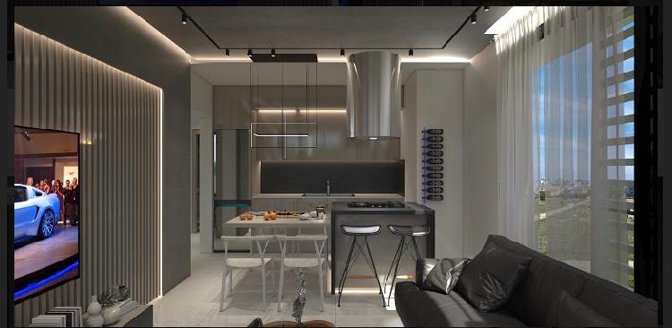 نمای داخلی آشپزخانه پروژه لوکس قبرس شمالی