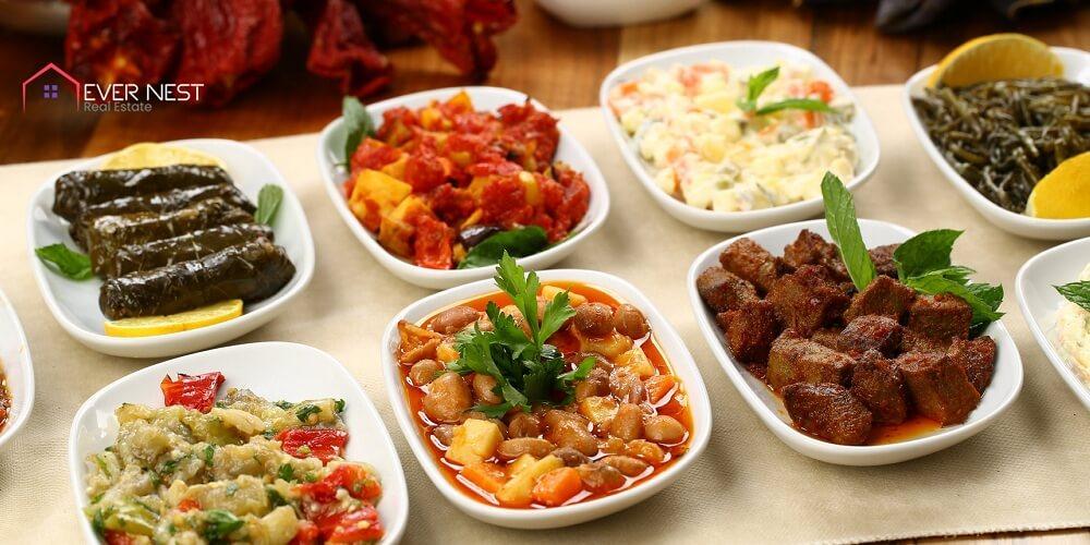 مزه، انواع غذاهای سر و گرم قبرس شمالی